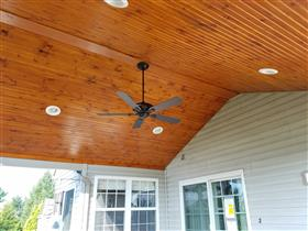 Ceiling of deck roof: