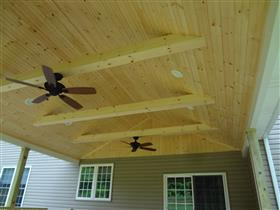 Tongue & Groove Beadboard Ceiling: